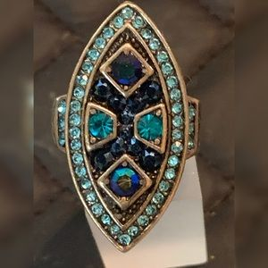 Heidi Daus Swarovski gems ring size 8